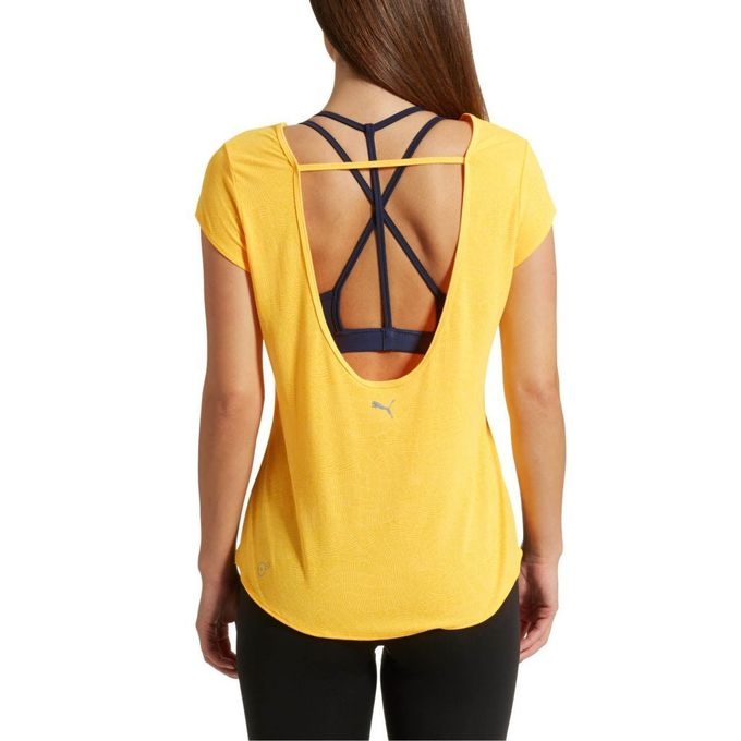 تی شرت ورزشی پوما با کد 51512111 ( Dancer Drapey Tee ultra yellow ) | Dancer Drapey Tee ultra yellow