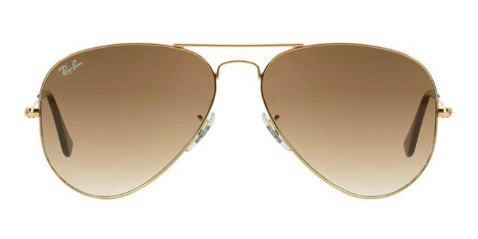 عینک آفتابی لوناتو با کد 3025 aviator large metal gold light brown gradient