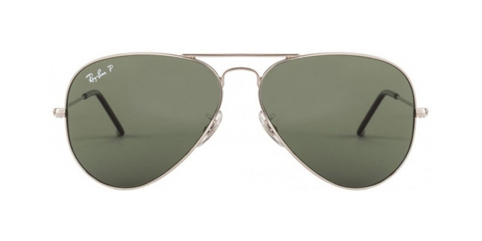 عینک آفتابی | عینک آفتابی ری-بن با کد 3025 AVIATOR SILVER GREEN CLASSIC POLARIZED ( RayBan 3025 Aviator Silver Green Classic Polarized )